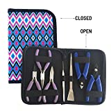 Flying K Jewelry Tools, Jewelry Pliers. Including a Crimper, Organized Zipped Case for Your Jewelry Making Tools. These Jewelry Making Supplies Will Help with Beading, Wire, or Repairs. (Diamond) (Color: Diamond)