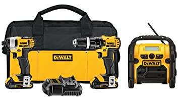 DEWALT DCK285L2 20V Max Lithium Ion Compact Hammerdrill and Impact Driver Combo Kit