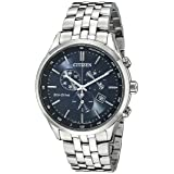 Citizen Men's Eco-Drive Chronograph Stainless Steel Watch with Date, AT2141-52L (Color: Silver Tone Stainless Steel)