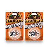Gorilla 6065016 6065001-2 Tough Mounting Tape, Double-Sided, 1