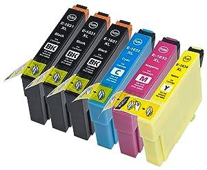 6 Multipack de alta capacidad Epson T1636 / Epson 16XL / Epson 16 Cartuchos Compatibles 3 negro, 1 ciano, 1 magenta, 1 amarillo para Epson WorkForce WF-2010W, WorkForce WF-2510WF, WorkForce WF-2520NF, WorkForce WF-2530WF, WorkForce WF-2540WF. Cartucho de tinta . T1631 , T1632 , T1633 , T1634 © 123 Cartucho  Electrónica Comentarios
