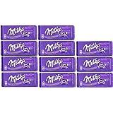 World's Best Milka Chocolate Alpine Milk (Pack of 10+1)