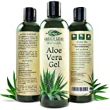 Green Leaf Naturals Organic Aloe Vera Moisturizer for Skin and Hair, 12 Ounce