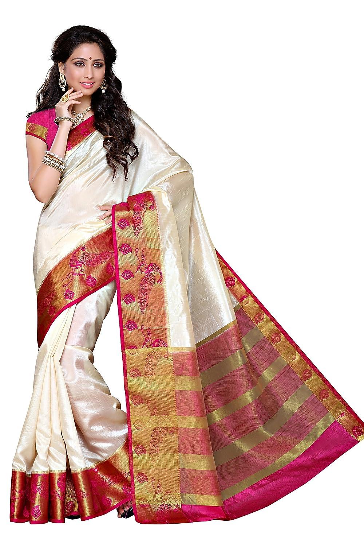 Women's Traditional Tussar Silk Saree Kanjivaram Style