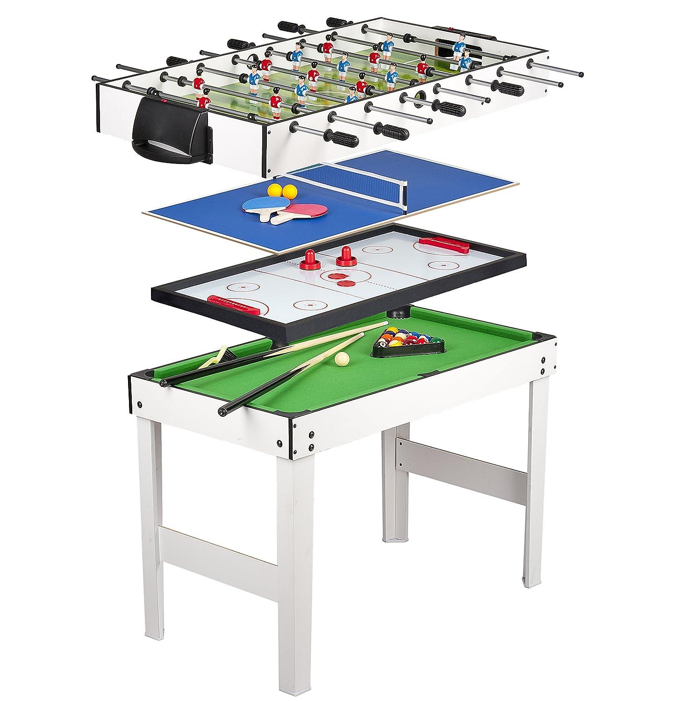Multigame Spieletisch Tischfußball Billiard Hockey Tischtennis 4in1 online kaufen