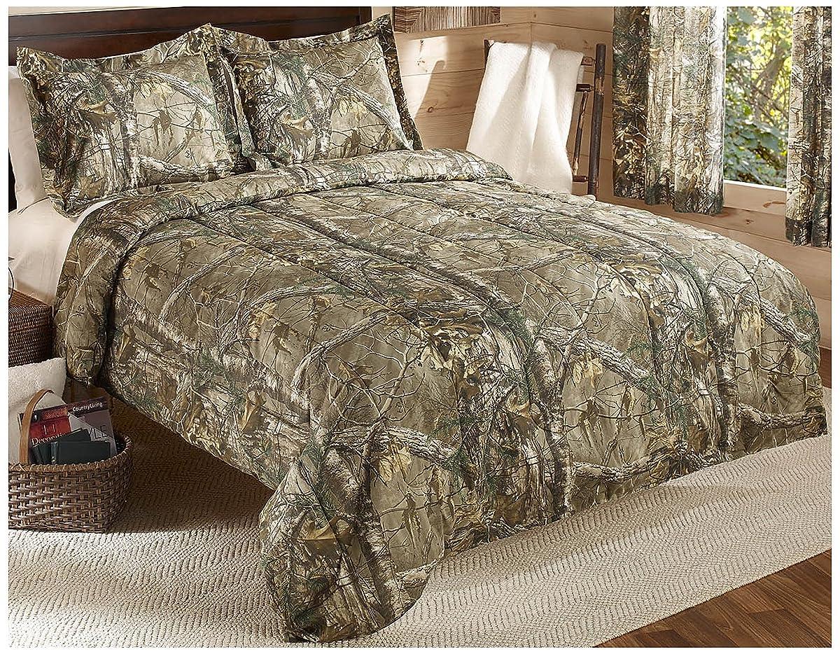 Realtree Xtra Mini Comforter Set, Twin, Tan, Camo