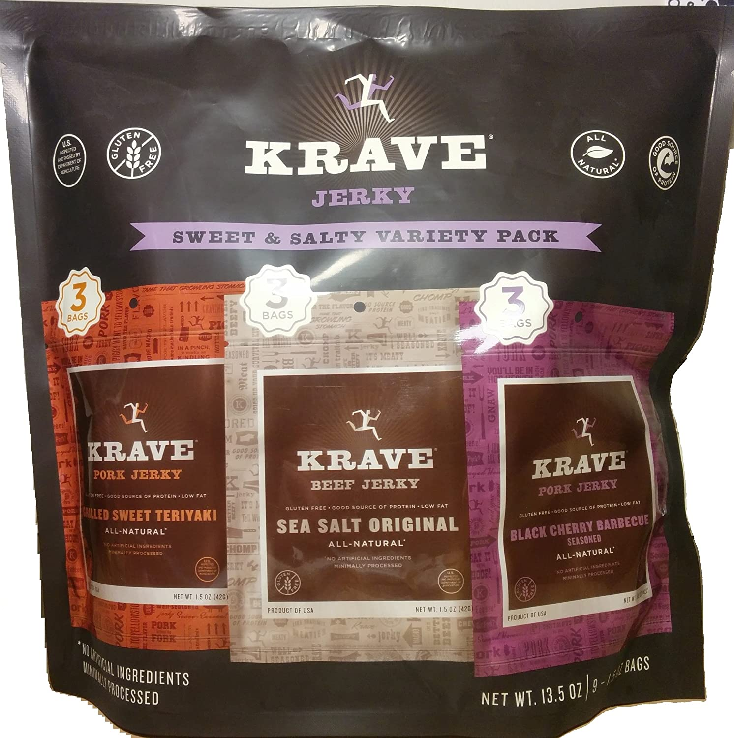 Krave Jerky Sweet & Salty Variety Pack (9 Pack)