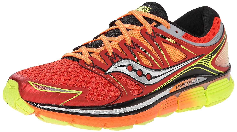 Saucony Men's Triumph ISO Running Shoe, Red/Orange/Citron,8.5 M US
