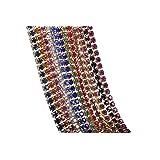 KAOYOO Crystal Rhinestone Close Chain Mixed 12 Colors Each 1 Yard.SS08/2.5mm/0.1
