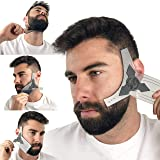 Beard Shaper Guide Template for Men's Care | All Size or Style 8 in 1 Multi-Liner Beard Shaping Tool for Barber's Touch Styling, line up, and Edging | Ideal for Facial Hair Trimmer, Razor, or Clippers (Color: Transparent, Tamaño: Small)