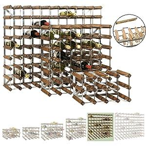 Weinregal / Flaschenregal System TREND, für 72 Fl., Holz Kiefer braun gebeizt, komplett montiert, stapelbar / erweiterbar  H 82,5 x B 82,5 x T 22,8 cm  BaumarktKundenbewertung und weitere Informationen