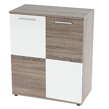 kommode schrank austin mit 2 t ren schachbrettoptik 82x69x35cm us82. Black Bedroom Furniture Sets. Home Design Ideas