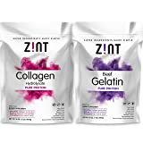 Gelatin & Collagen (Type 1 & 3) Hydrolysate Powder Pack - 1 Lb Bags - Unflavored - Organic Grass fed. Non-GMO Kosher Certified, Paleo Friendly, No Smell or Aftertaste, Easy to mix and Easy to Digest (Tamaño: 16 Ounces)