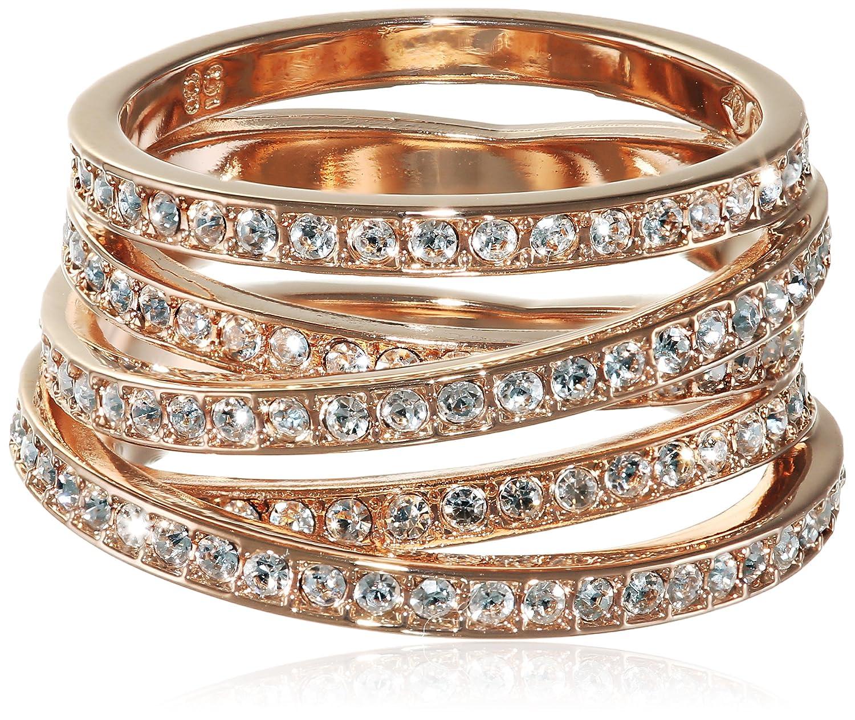 Swarovski Damen-Ring Spiral Metall Swarovski-Kristall 5063924 als Weihnachtsgeschenk kaufen