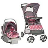 Cosco Lift & Stroll Travel System - Car Seat and Stroller – Suitable for Children Between 4 and 22 Pounds, Posey Pop (Color: Pink Gray)