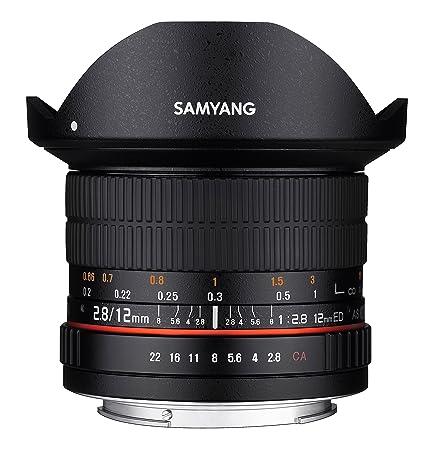 Samyang Objectif Fisheye pour Canon 12 mm F2.8 ED AS NCS Noir