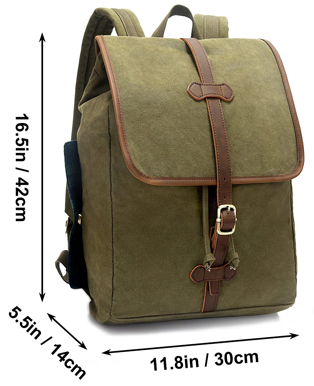 EverVanz Vintage Canvas School Hiking Casual Backpack Outdoor Backpack for 12 to 15