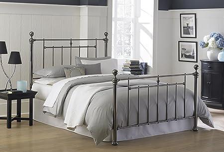 Leggett & Platt Fashion Bed Group Heritage Bed, Queen, Black Sapphire