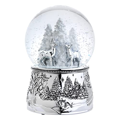 Reed & Barton 4065 Alpine Forest Snow Globe 6-Inch Plays Silent Night