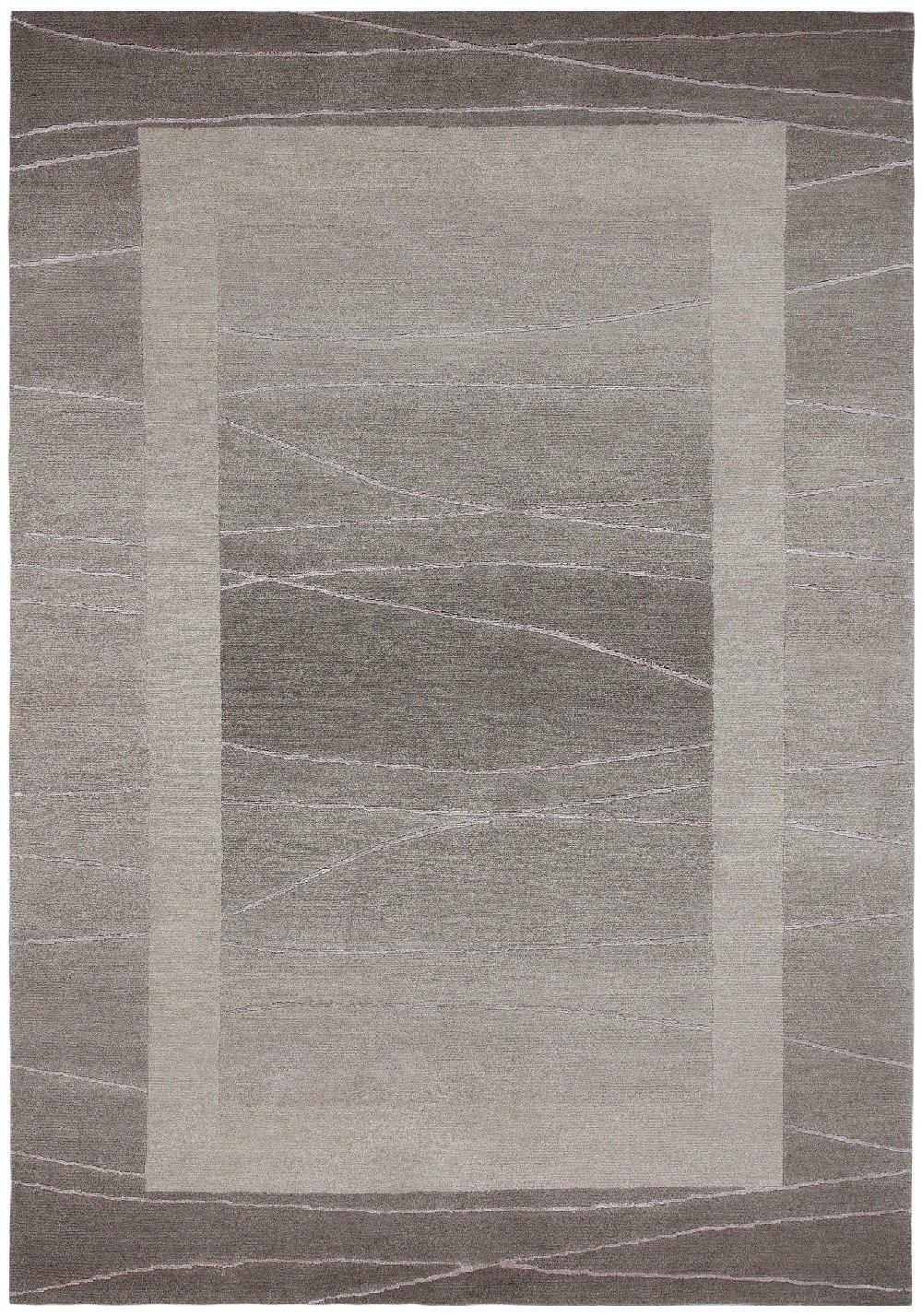 """Sona-Lux Nepal Teppich handgeknüpft sand """"Größe auswählen"""" 250 x 350 cm"""