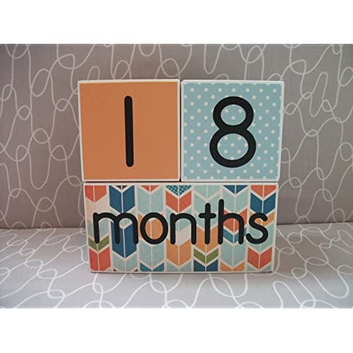 Age Blocks - Wooden Age Blocks - Monthly Blocks