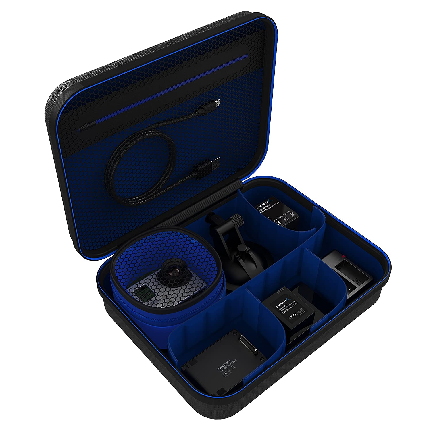 Sabrent Universal Travel Case for GoPro or Small Electronics and Accessories (Medium) (GP-CSBG)