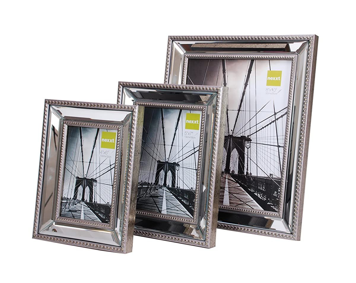 Kiera grace sutton mirrored picture frame 5 by 7 inch champagne jeuxipadfo Image collections