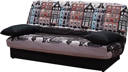 COCO Clic clac tissu polyester imprime Amsterdam