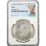 1948 MX Mexico Silver Chief Cuahtemoc 5 Peso (Cinco Peso) MS63 NGC