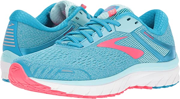 Brooks Womens Adrenaline GTS 18 Pink//Blue//Yellow 6.5 B US