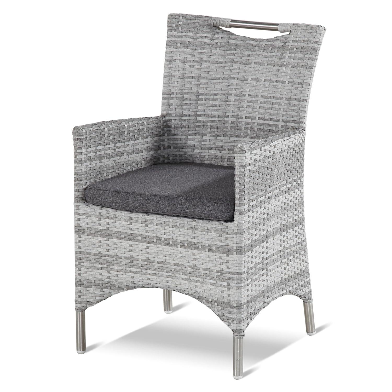 Hartman Montegette Dining Sessel Polyrattan royal grey flat/Edelstahl 22552799 kaufen