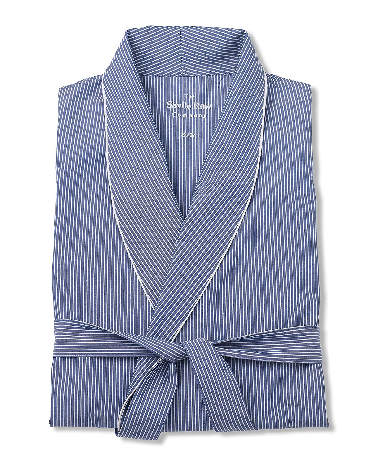 Savile Row Men's Navy White Stripe Dressing Gown брюки cross sport брюки