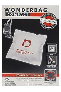 Rowenta Wonderbag Compact - Bolsas para aspiradora WB305120 (Pack de 5)   Comentarios y más información