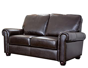 Abbyson Living Wilshire Italian Leather Loveseat