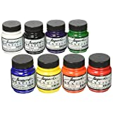 Jacquard Products JAC1000 Textile Color Fabric Paint (8 Pack), 2.25 oz, Primary & Secondary Colors, Assorted (Color: Assorted, Tamaño: 2.25 oz)