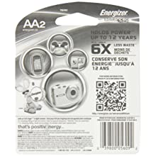 Energizer Advanced Lithium Batteries, AA Size, 2-Count (Pack of 12)
