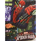 Marvel Ultimate Spiderman Stretchable Fabric Book Cover ~ Web-slinging Superhero! (Fits Books Larger than 10