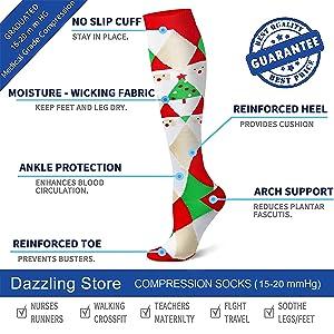 Compression Socks 15-20 mmHg is Best Athletic & Medical for Men & Women Running Flight Travel Nurses Pregnant (04 Black/Red/Red/Green/Green/White, Small/Medium (US Women 5.5-8.5/US Men 5-9)) (Color: 04 Black/Red/Red/Green/Green/White, Tamaño: Small/Medium (US Women 5.5-8.5/US Men 5-9))