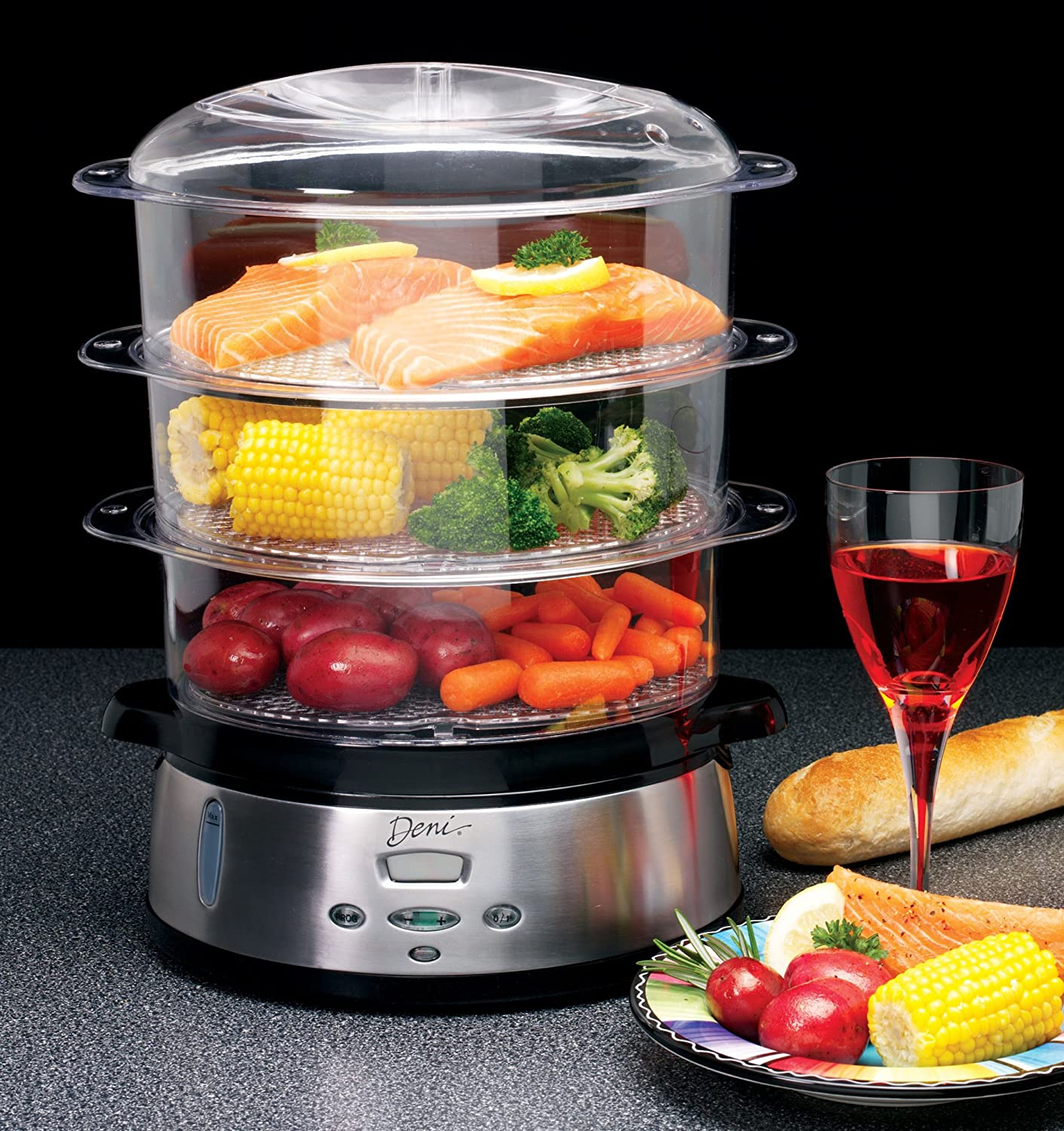 Electronic Food Steamer ~ New tier electronic food steamer cooker digital display