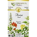 Celebration Herbals Organic Anise Seed Tea Caffeine Free, 24 Herbal Bags (Tamaño: 24)