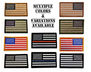 American Tactical Supply Co. American Flag Patch, Thin Red Line (Color: Thin Red Line)