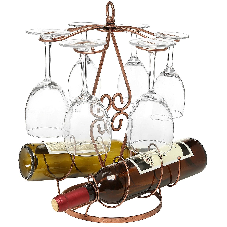 New Bronze Freestanding Scrollwork Metal Tabletop Wine