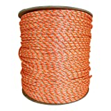 Dacron Polyester Pull Cord (#6) - SGT KNOTS - Solid Braid Rope - Small Engine Starter Rope - Replacement Cord Rope for Lawn Mowers, Leaf Blowers, Snowblowers, Generators, More (1,000 feet, Orange) (Color: Orange with Green Tracer, Tamaño: #6 x 1,000 feet)