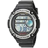 Casio Men's 'Classic' Quartz Resin Casual Watch, Color:Black (Model: AE-3000W-1AVCF)