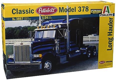 Italeri - I3857 - Maquette - Voiture et Camion - Peterbilt 378 Long Hauler - Echelle 1:24