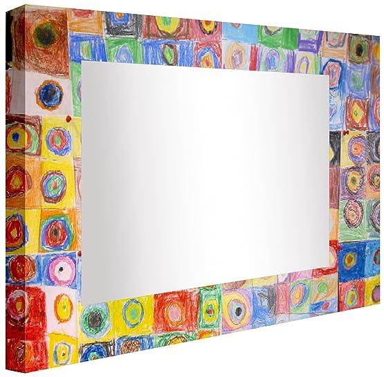 ccretroiluminados Kandinsky Specchio da bagno illuminato, acrilico, multicolore, 60x 60x 5,3cm