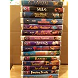 Lot of 15 Disney VHS Movies