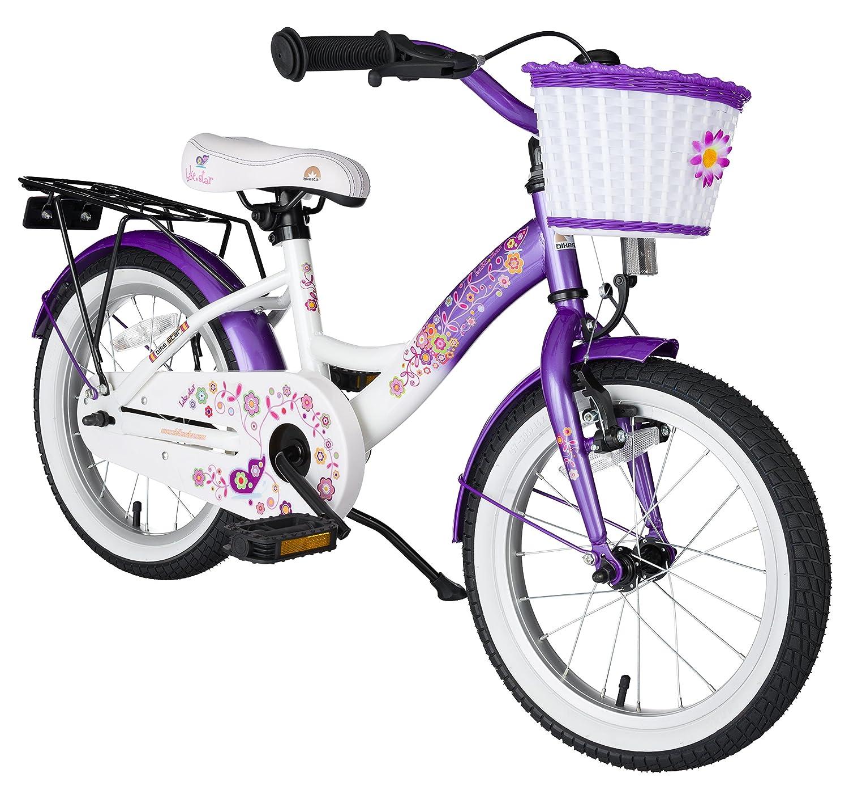 BIKESTAR® Premium Kinderfahrrad für sichere und sorgenfreie Spielfreude ab 4 Jahren ★ 16er Classic Edition ★ Candy Lila & Diamant Weiß jetzt kaufen