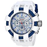 Invicta Men's 'Marvel' Quartz Stainless Steel and Silicone Watch, Color White (Model: 26010) (Color: white)