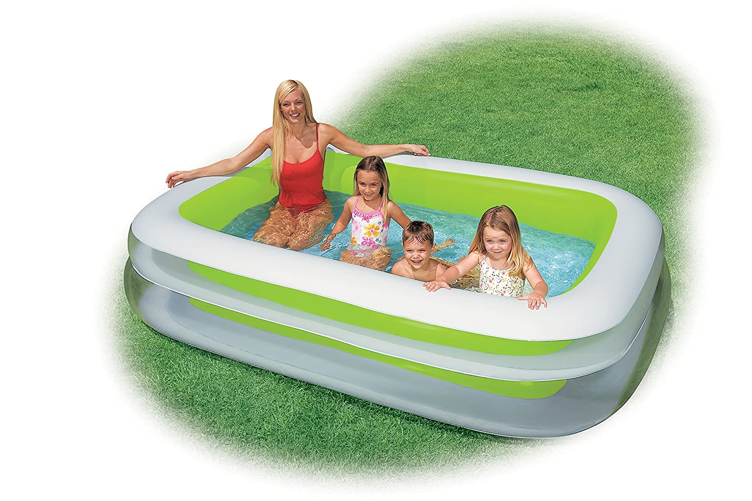 Intex swim center family inflatable pool 103 x 69 x 22 for ages 6 new f ebay Intex inflatable swimming pool